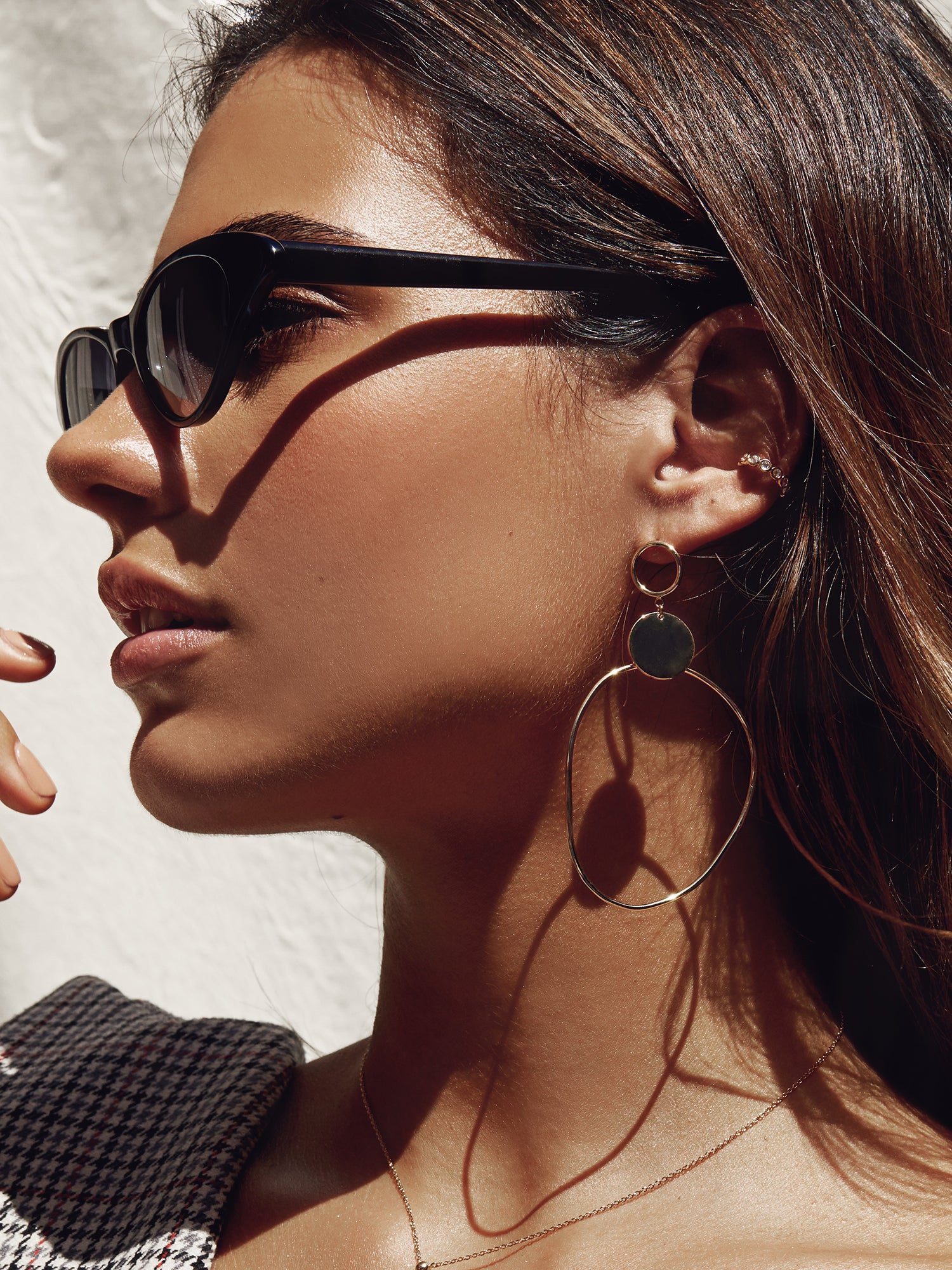 OBLONG METAL STATEMENT HOOPS
