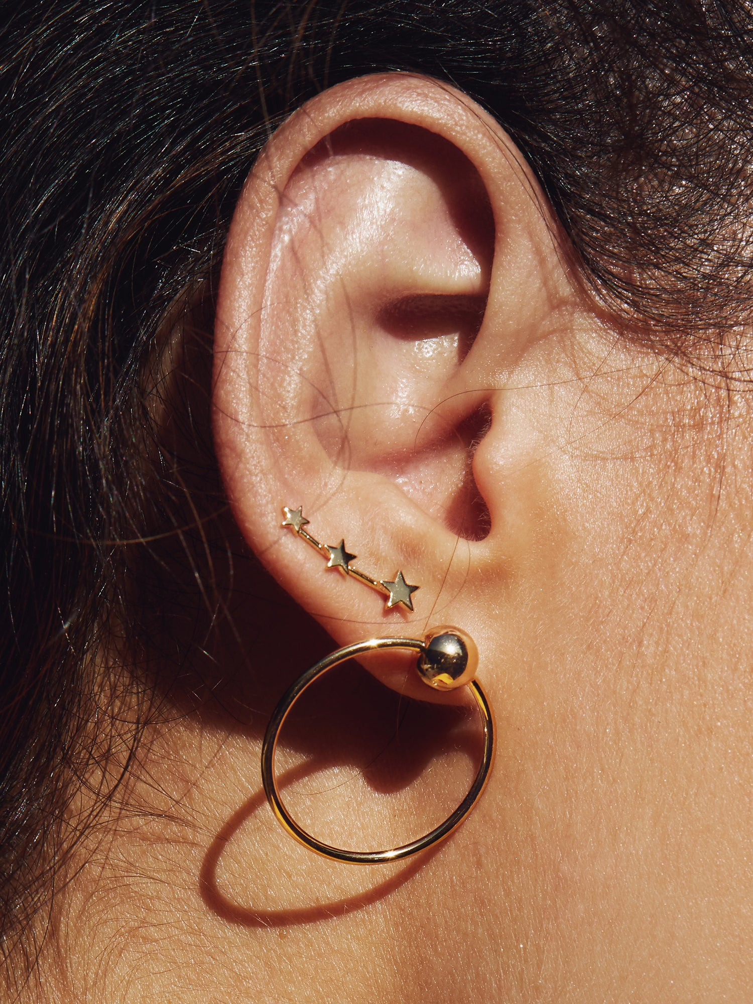 RING OF FIRE HOOP EARRINGS