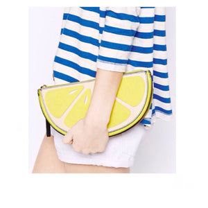 LEMON WEDGE CLUTCH