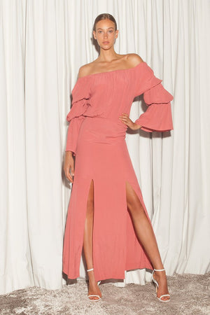 MADDY DRESS - CORAL
