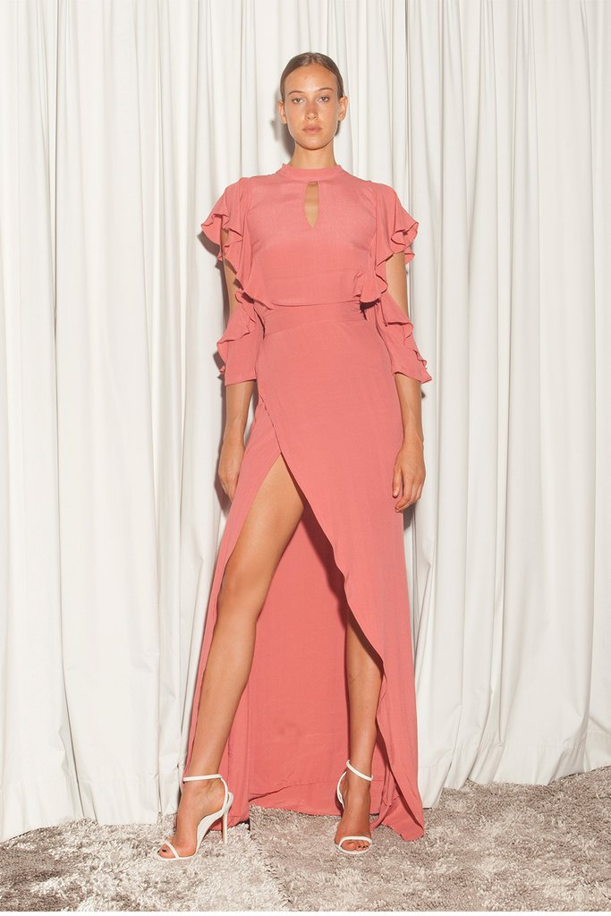 CICELY DRESS - CORAL