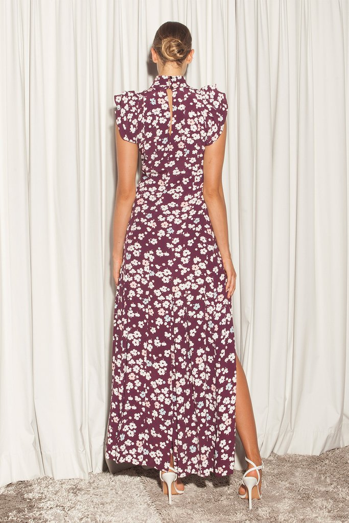 EVE DRESS - FLORAL WINE
