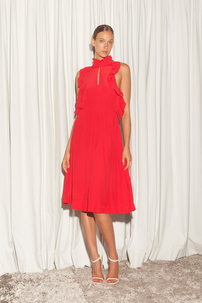 DELIAH DRESS - RED