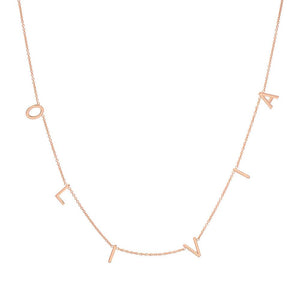 SPACED LETTER NECKLACE - LARGE