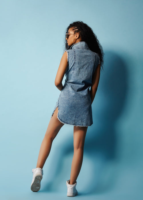 HARAN - DENIM DRESS