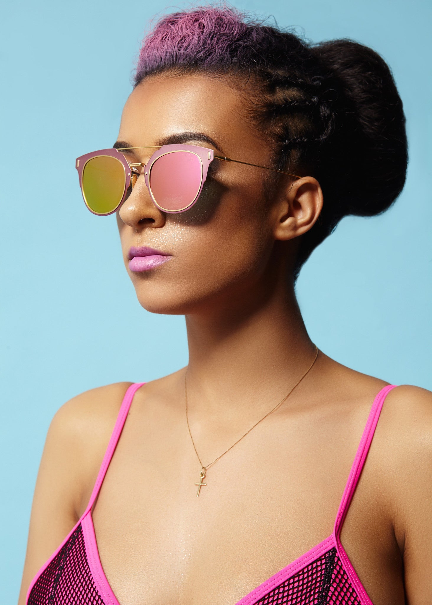 Rainman - Pink Reflective Sunglasses