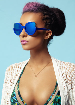 Blue Monday - Cat Eyed Sunglasses