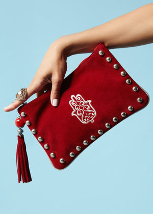 MIRIAM RED CLUTCH