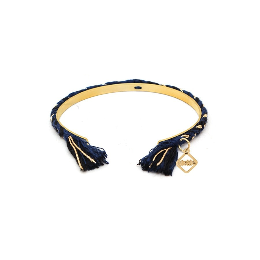 FRIENDCHIC - NAVY AND BLACK WITH GOLD