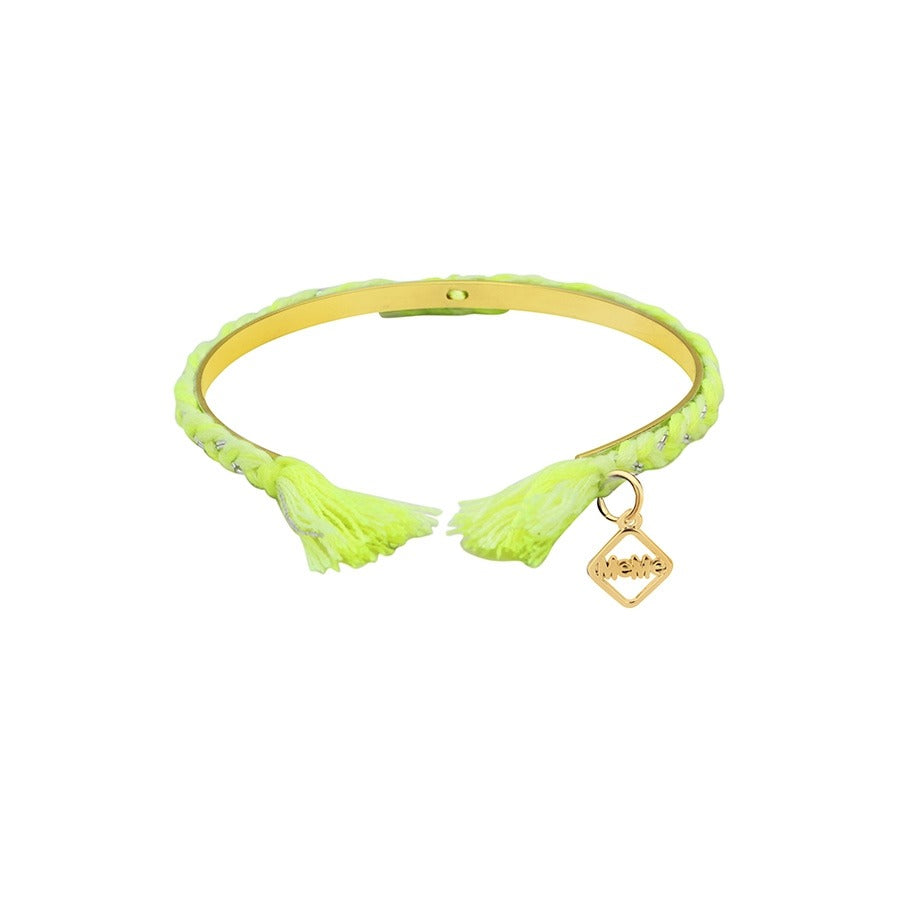 FRIENDCHIC - NEON YELLOW WITH GOLD