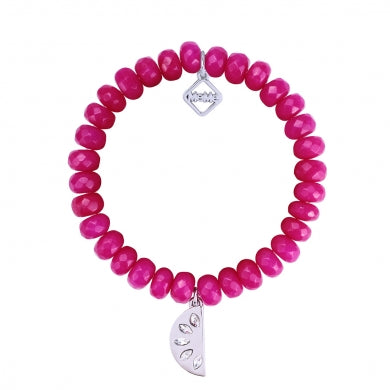 JUICY SLICE FUSCHIA - WHITE GOLD