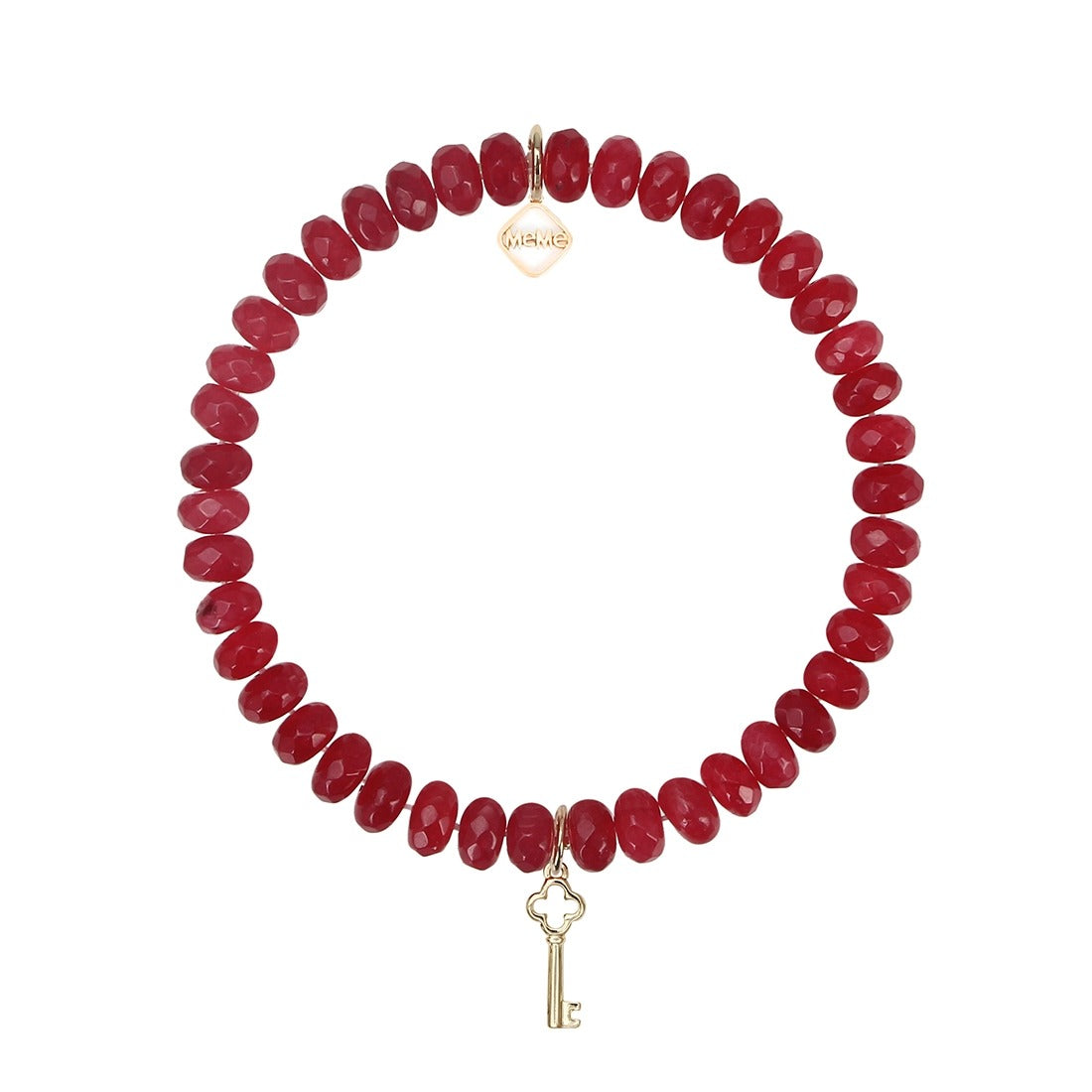 KEY TO LOVE, HAPPINESS, SUCCESS & HEALTH - DEEP RED WITH GOLD