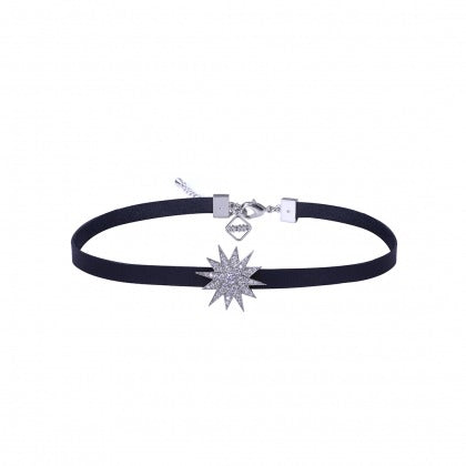 LULU CHOKER - WHITE GOLD