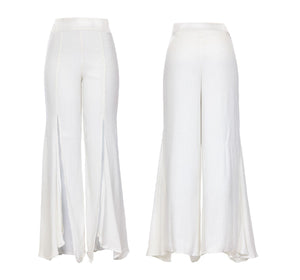 KELLY SWAY PANTS - IVORY CREPE