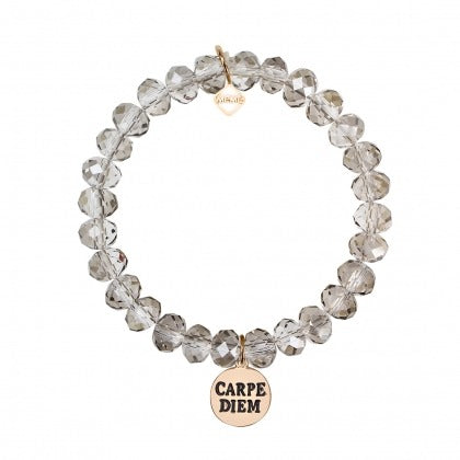 SEIZE THE DAY - GREY CLEAR CRYSTAL - GOLD