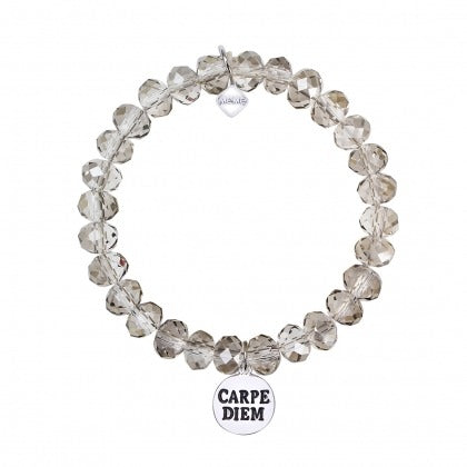 SEIZE THE DAY - GREY CLEAR CRYSTAL - WHITE GOLD