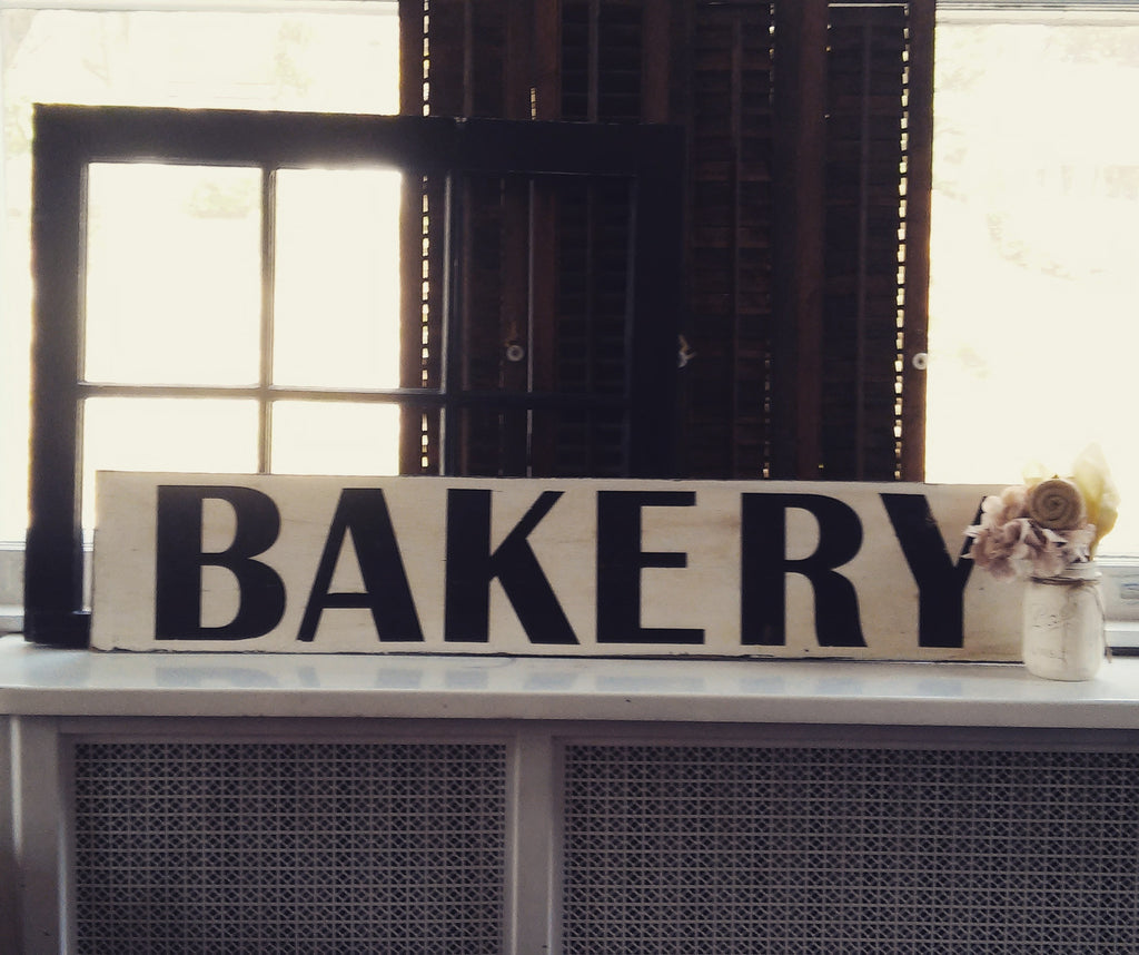 Reclaimed Wood Bakery Sign