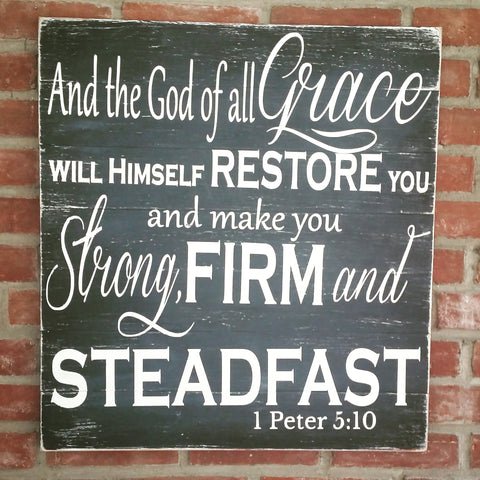 1 Peter 5:10 Sign on Reclaimed wood