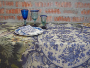 Tablecloth: Collage Delft Plates - 3m x 1.5