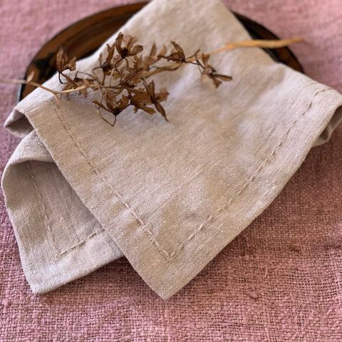 Napkins: Blush - hand stitched