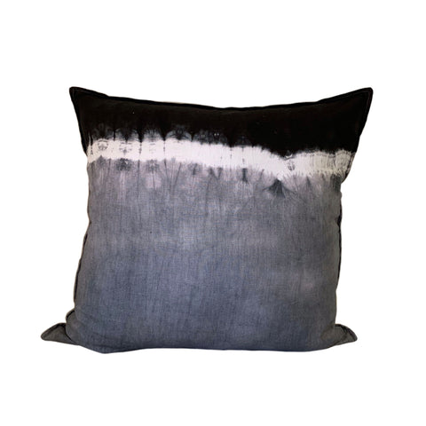 Ombre: Black & Charcoal - 60x60 - white linen