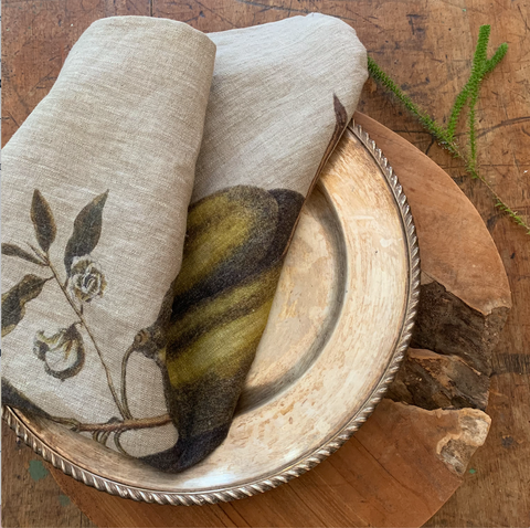 Napkins: Pawpaw Fruit - 4