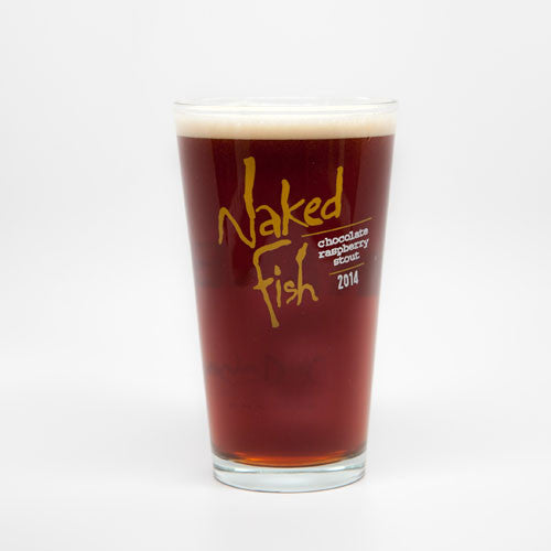 Naked Fish Pint Glass 2014