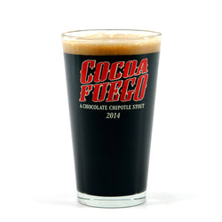 Cocoa Fuego Pint Glass