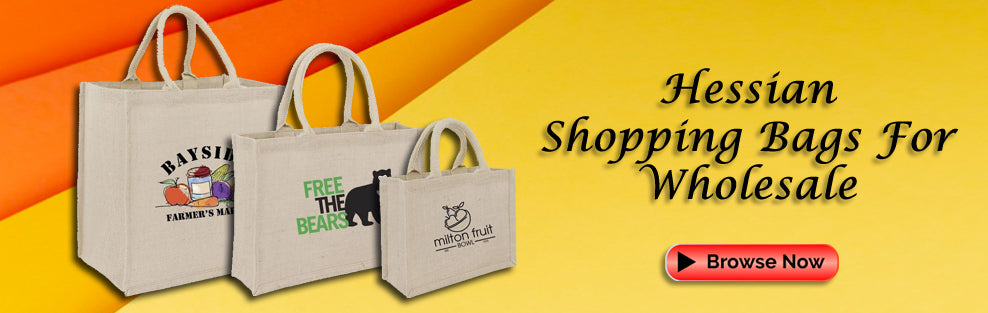 Hessian Shopping Bags Wholesale