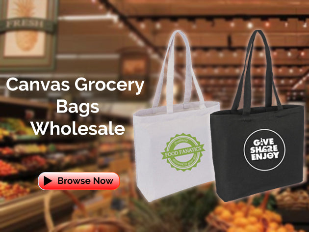 Canvas Grocery Bags Wholesale
