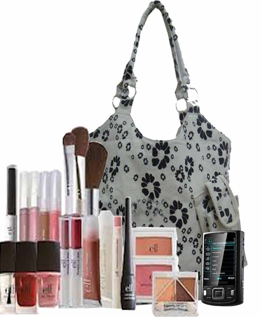 Customized Canvas Boutique Bag With Mobile Pouch CA15