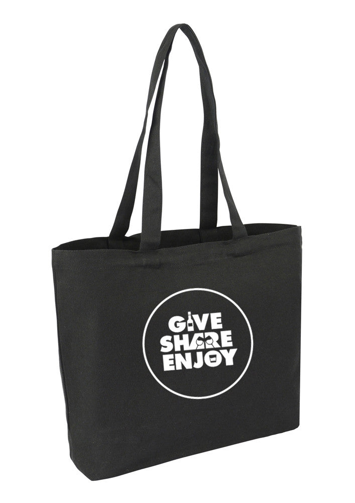 Black Canvas Farmers market bags