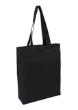 Heavy Cotton / Canvas Bag Tote Black With Bottom Only CAN-TT-BK-BTM