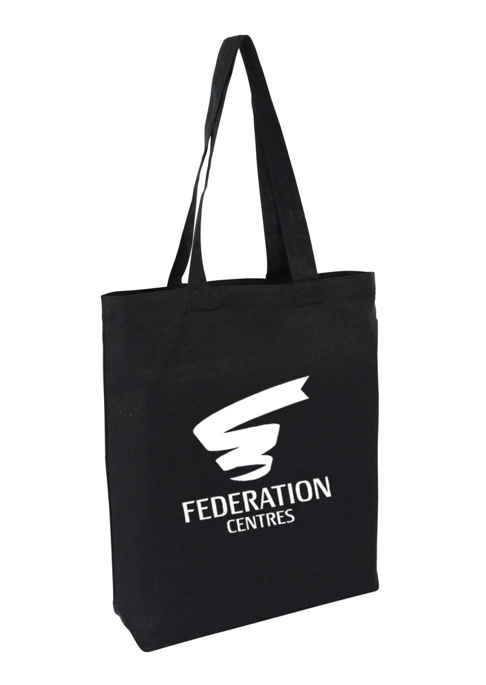 Black Canvas tote bag with bottom only