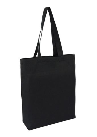 Heavy Cotton / Canvas Bag Tote Black With Bottom Only Plain Bag