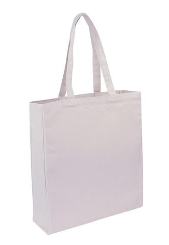 Canvas Tote With Full Gusset - Plain Bag
