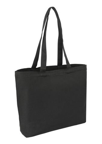 Heavy Cotton / Canvas Bag Farmers Market Black Plain Bag