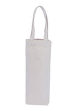 Wholesale Plain Canvas Wine Bag for 1 Bottle