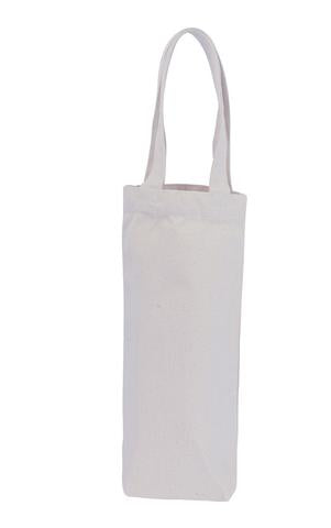Canvas Wine Bag - 1 Bottle - Plain Bag
