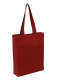 Bulk Plain Red Cotton Tote Bag With Base Gusset Only
