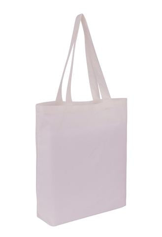 Cotton Tote With Base Gusset Only - White - Plain Bag