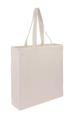 Wholesale Plain Cotton Tote Bags With Full Gusset