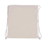 Promotional Plain Cotton Bag -  Backpack (Drawstring)