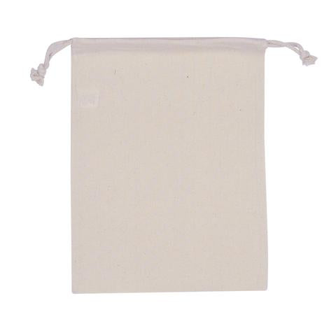 Cotton Drawstring Medium Pouch Plain