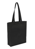 Cotton Bag -  Tote Black With Bottom Only CTN-TT-BK-BTM