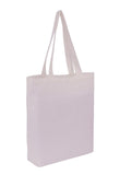 Cotton Tote With Base Gusset Only - White - CTN-TT-WH-BTM