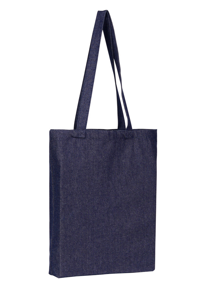 Wholesale Plain Denim Bag Tote With Bottom Only
