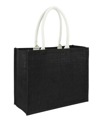 Plain Full Black Jute Hessian Bag Laminated Landscape Wholesale