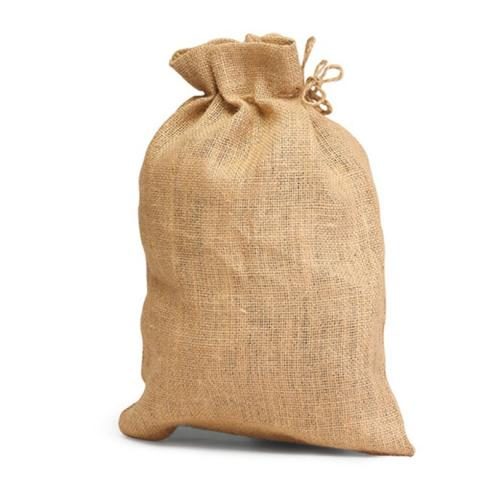 Jute Medium Pouch Toggle - Plain Pouch