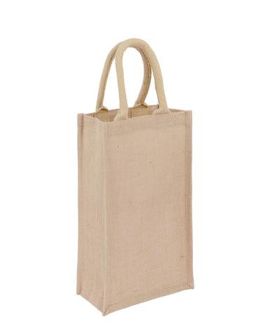Jute Wine Bag - 2 Bottle - Plain Bag